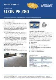 Produktdatenblatt UZIN PE 280 Blitzgrundierung - Baubook
