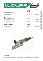 Betriebsanleitung Operating manual Mode d'emploi - Uzin Utz AG