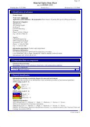 Material Safety Data Sheet - Uzin Utz AG