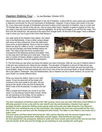Haarlem Walking Tour -- by Jay Brentjes, October 2010