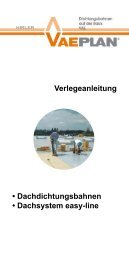 Verlegeanleitung • Dachdichtungsbahnen • Dachsystem ... - vaeplan