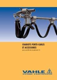 chariots porte-cables et accessoires pour profile de ... - Vahle