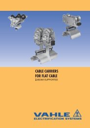 I-Beam Cable Carriers for Flat Cable - VAHLE, Inc