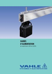 GAINES D'ALIMENTATION - Vahle