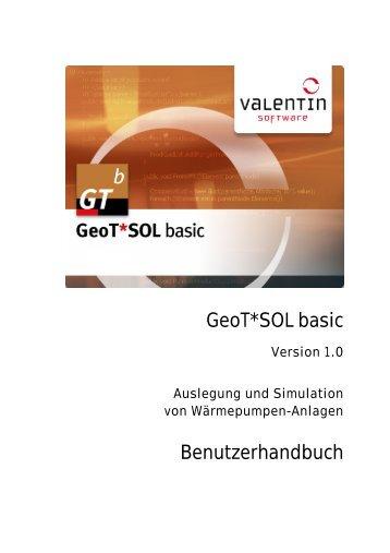 Handbuch GeoT*SOL basic - Valentin Software