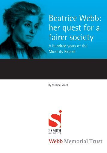 Beatrice Webb: her quest for a fairer society - Smith Institute