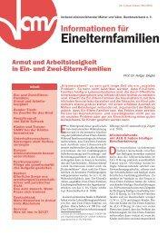 Informationen für Einelternfamilien Nr. 1/2012 - Vamv