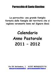 Calendario Anno Pastorale 2011 – 2012 - Parrocchiamondolfo.it