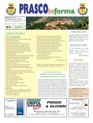 numero 8/2007 (PDF 560 kb) - Comune di Prasco