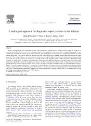 A multiagent approach for diagnostic expert systems via the internet