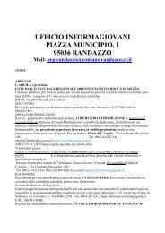 ufficio informagiovani piazza municipio, 1 95036 randazzo