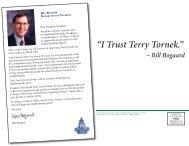 """ I Trust Terry Tornek."" - CampaignSiteBuilder.com"