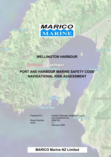 MARICO Marine NZ Limited WELLINGTON HARBOUR PORT AND ...