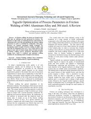 Taguchi Optimization of Process Parameters in Friction ... - IJETAE