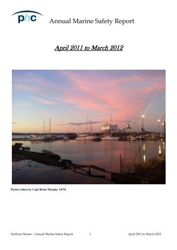 Annual Marine Safety Report 2012 - Poole Harbour Commissioners