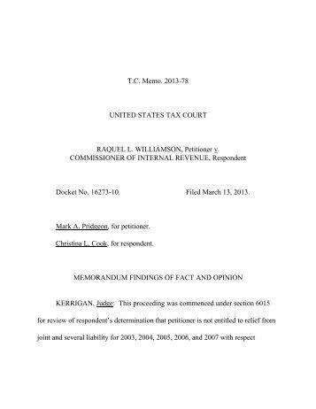 TC Memo. 2013-78 - U.S. Tax Court