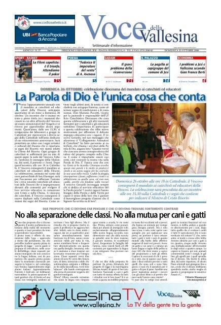 Scarica L Intero Giornale In Formato Pdf Voce Della Vallesina