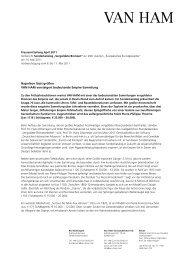 Vorbericht Sammlung - VAN HAM Kunstauktionen