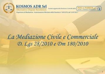 Download Brochure - KOSMOS ADR - Organismo di Conciliazione