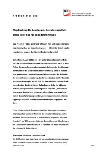 Mogelpackung: Die Anhebung der ... - Goossens-Redley