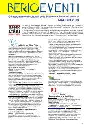 5_berioeventi Maggio 2013.pdf - Sistema Bibliotecario Urbano