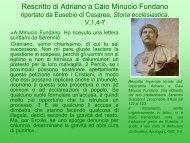 Rescritto di Adriano a Caio Minucio Fundano riportato da Eusebio di ...