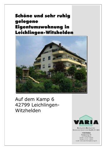 Schöne und sehr ruhig gelegene Eigentumswohnung in ... - Varia KG