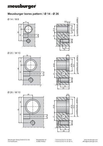 Meusburger bores pattern /,