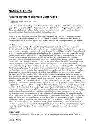 Natura e Anima Riserva naturale orientata Capo Gallo - CRIEA