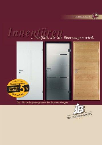Prospekt Innentüren - Behrens-Wöhlk-Gruppe