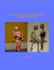 puppets guide - Museum for African Art