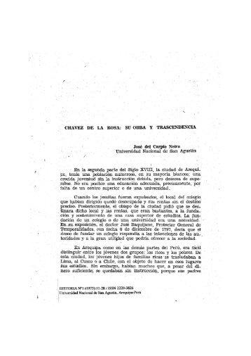 Chavez de la Rosa y su Trasendencia - Bvirtual-unsa.edu.pe