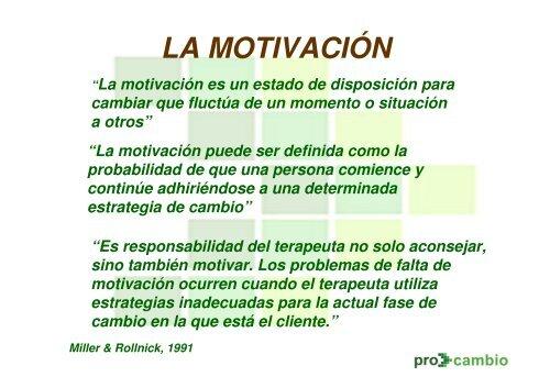 Terapia Motivacional Transteorica