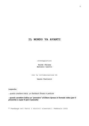 Il mondo va avanti.pdf - Guido Chiesa