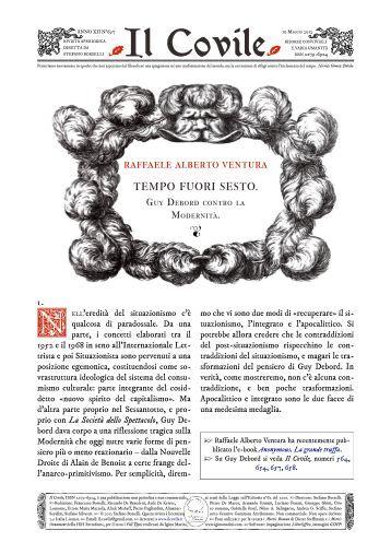 Il Covile N° 697 -Tempo fuori sesto. Guy Debord contro la Modernità ...