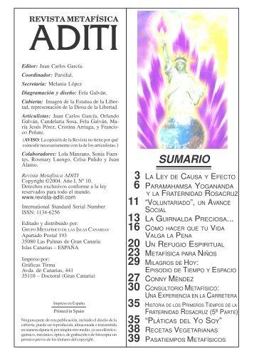 Revista ADITI Nº I-10 Jl.2004 - JUAN CARLOS GARCIA