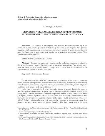 le piante nella magia e nella superstizione - Pico 5 - Scuola ...