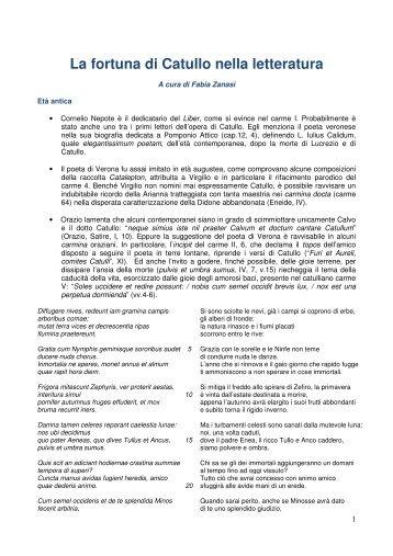 La fortuna di Catullo - LICEO MINGHETTI Bologna > Home