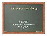 Neutrinos and Dark Energy