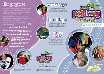 the puppets workshops bookings more info - Polliwog Puppets