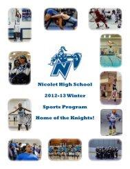 Nicolet High School 2012-13 Winter Sports Program Home of the ...