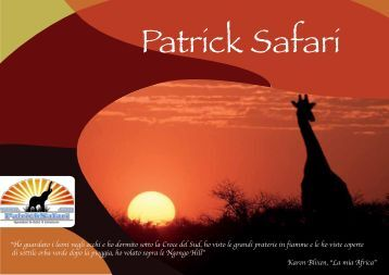 Scarica il catalogo Escursioni & Safari - Patric Safari - The Kenya ...