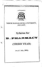 Syllabus for (THIRD YEAR) - North Maharashtra University