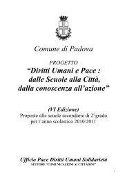 Progetto 2010/2011 - Comune di Padova