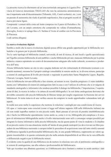 Biblioteche in rete Prof. Corticelli Albertina - Rino Vaccaro