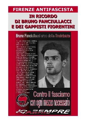 In ricordo di Bruno Fanciullacci e dei gappisti fiorentini