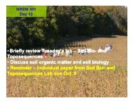 09-24-09 Soil, Bio and OM - Natural Resource Ecology and ...
