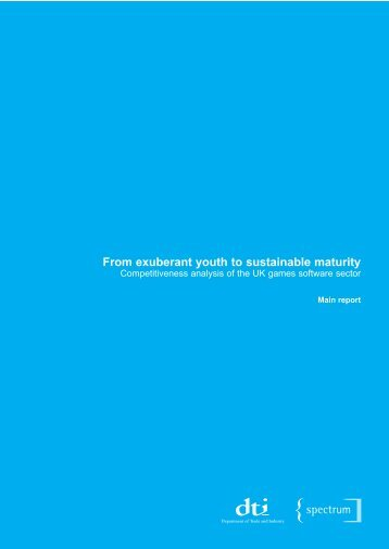 From Exuberant Youth to Sustainable Maturity - DTI Home