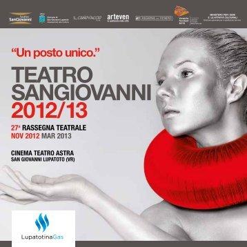 TEATRO SANGIOVANNI 2012/13 - cinema teatro astra
