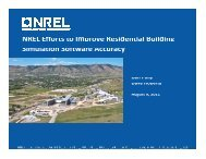 NREL Efforts to Improve Residential Building Simulation Software ...